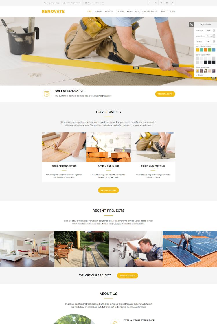 Renovate – Construction Renovation Theme