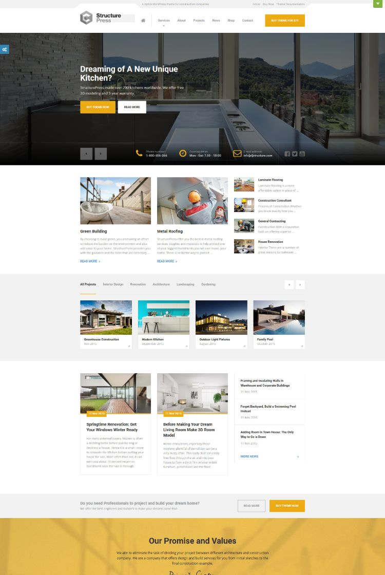 StructurePress – Construction WordPress Theme Demo