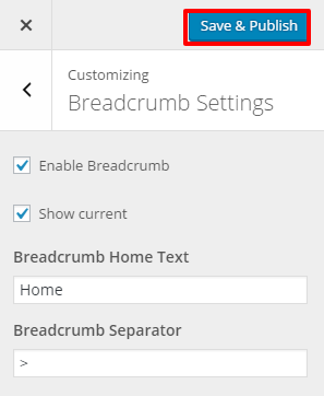 Breadcrumb Settings