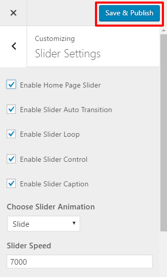 Slider Configuration - bakes and cakes