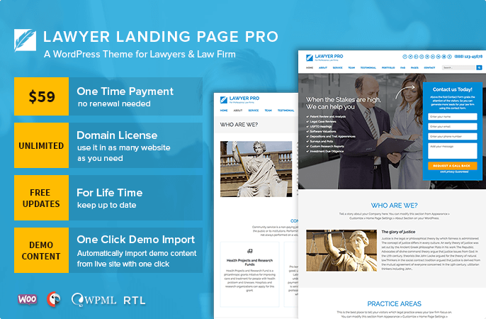 Lawyer Landing Page Pro